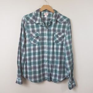 Mossimo Supply Co Plaid Snap Button Shirt
